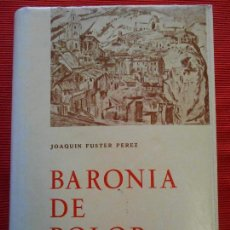 Libros de segunda mano: BARONIA DE POLOP - JOAQUIN FUSTER. Lote 66816926
