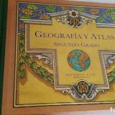 Libros de segunda mano: GEOGRAFÍA Y ATLAS: SEGUNDO GRADO. Lote 67661509