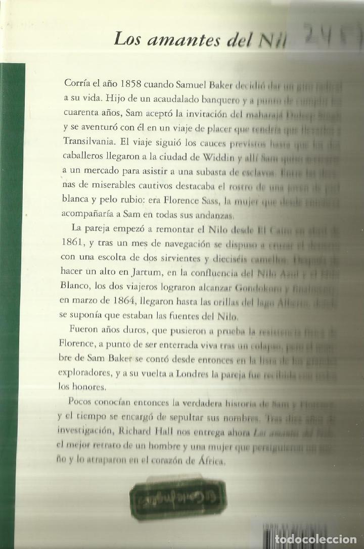 Libros de segunda mano: LOS AMANTES DEL NILO. RICHARD HALL. MONDADORI. BARCELONA. 2001 - Foto 3 - 70138765