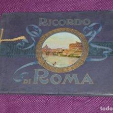 Libros de segunda mano: ANTIGUA PUBLICACION - RICORDO DI ROMA - LIBRO CON 30 FOTOGRAFÍAS PRECIOSAS DE ROMA EN BLANCO Y NEGRO. Lote 162162490