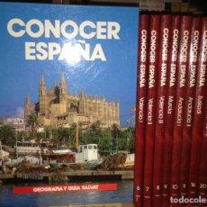 Libros de segunda mano: CONOCER ESPAÑA 10 TOMOS. Lote 80052799