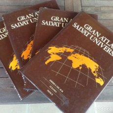 Libros de segunda mano: GRAN ATLAS SALVAT UNIVERSAL (4 TOMOS). Lote 80921992