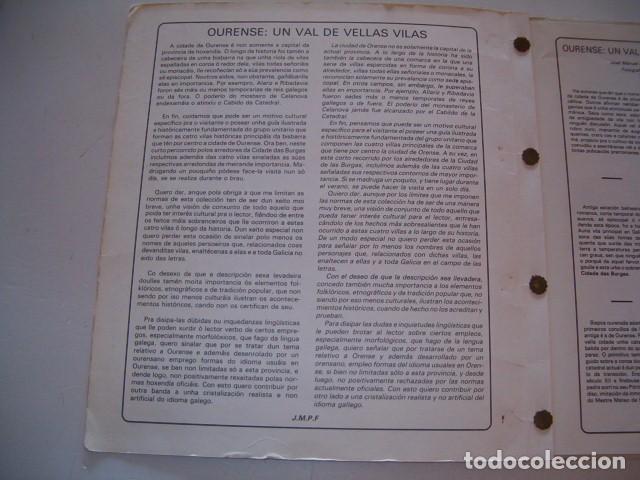 Libros de segunda mano: JOSÉ MANUEL PÉREZ FERNÁNDEZ. Vieiros de Galicia Nº 9. Ourense: Un val de vellas vilas. RM79689. - Foto 2 - 81771992