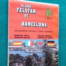 Libros de segunda mano: PLATELSTAR BARCELONA 117 X 87 CM CON DISTRITOS POSTALES E INDICE TOPONIMICO -1981 -REFM1E3. Lote 83615420