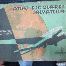 Libros de segunda mano: ATLAS ESCOLARES SALVATELLA GEOGRAFIA DE ESPAÑA . Lote 84322408