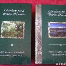 Libros de segunda mano - SENDEROS POR EL PIRINEO NAVARRO. 40 PASEOS, 2 TOMOS, FICHAS PLANOS Y PERFILES. CAJA NAVARRA. NUEVO - 89739984