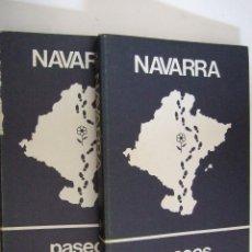 Libros de segunda mano: NAVARRA PASEOS NATURALISTICOS - 1981 - TOMOS I Y II - FICHAS CON PASEOS POR NAVARRA - . Lote 91121090