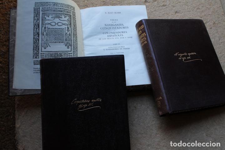 VIDAS DE LOS NAVEGANTES, CONQUISTADORES Y COLONIZADORES ESPAÑOLES DE LOS SIGLOS XVI, XVII Y XVIII. (Libros de Segunda Mano - Geografía y Viajes)