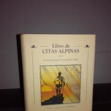 Libros de segunda mano: VV.AA. - LIBRO DE CITAS ALPINAS - DESNIVEL, 2001 - CARTONÉ - ILUSTRADO - NUEVO. Lote 95407895