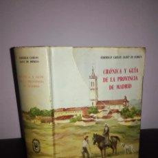 Libros de segunda mano: SÁINZ DE ROBLES - CRÓNICA Y GUÍA DE LA PROVINCIA DE MADRID - ESPASA CALPE, 1996 - BUEN ESTADO. Lote 95408771