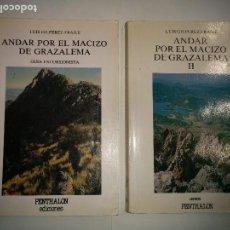 Libros de segunda mano: ANDAR POR EL MACIZO DE GRAZALEMA I Y II 1989 - 1995 LUIS GILPEREZ FRAILE ED. PENTHALON Nº 21; 58. Lote 95446375