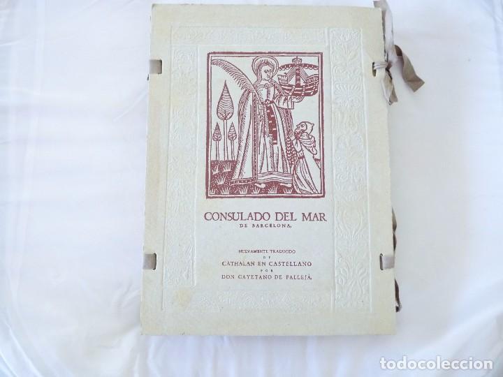 CONSULADO DEL MAR DE BARCELONA EDICIÓN FACSIMIL (Libros de Segunda Mano - Geografía y Viajes)