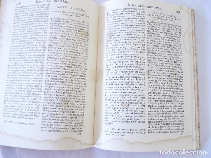Libros de segunda mano: CONSULADO DEL MAR DE BARCELONA EDICIÓN FACSIMIL - Foto 6 - 96019255