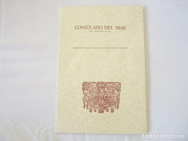 Libros de segunda mano: CONSULADO DEL MAR DE BARCELONA EDICIÓN FACSIMIL - Foto 8 - 96019255