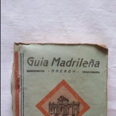 Libros de segunda mano: GUÍA MADRILEÑA-ONEROM-1936,CALLEJERO,PLANO.. Lote 98105327