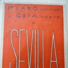 Libros de segunda mano: 1953 PLANO Y GUÍA DE SEVILLA POR MARTIN ALHAMAR CON MAPAS. Lote 98399539