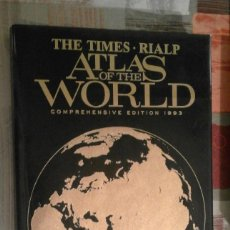 Libros de segunda mano: ATLAS OF THE WORLD - THE TIMES. RIALP - COMPREHENSIVE EDITION 1993 - EN INGLÉS. Lote 100631179