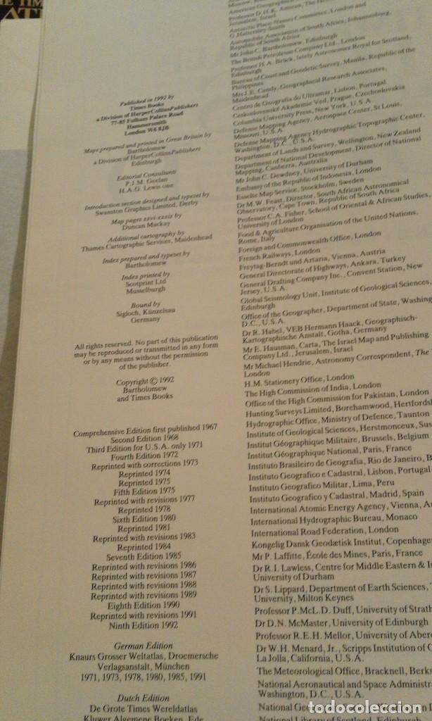 Libros de segunda mano: Atlas of the world - The Times. Rialp - Comprehensive edition 1993 - en inglés - Foto 19 - 100631179