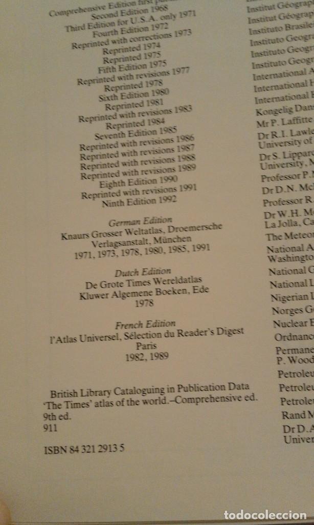 Libros de segunda mano: Atlas of the world - The Times. Rialp - Comprehensive edition 1993 - en inglés - Foto 20 - 100631179
