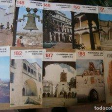 Livres d'occasion: LIBROS ARTE CACERES BADAJOZ - 10 REVISTAS CAMINOS DE ESPAÑA BADAJOZ ZAFRA TRUJILLO PLASENCIA NAVALM. Lote 100928187