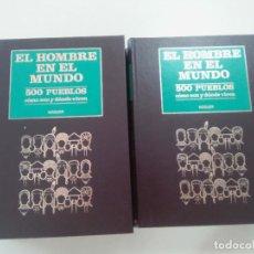 Libros de segunda mano: ENCICLOPEDIA EL HOMBRE EN EL MUNDO. 500 PUEBLOS COMO SON DONDE VIVEN-7 TOMOS-COMPLETA-EDITA NOGUER- . Lote 103617075