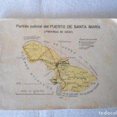 Libros de segunda mano: ANTIGUO LIBRETO PARTIDO JUDICIAL DEL PUERTO DE SANTA MARIA. Lote 104398759