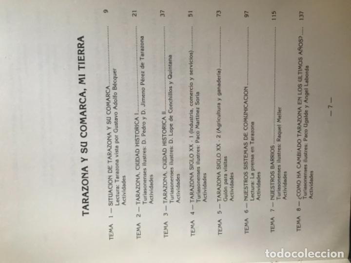 Libros de segunda mano: ANTIGUO LIBRO TARAZONA Y SU COMARCA MI TIERRA MIGUEL ÁNGEL SORIA GARCÍA - Foto 3 - 104558995