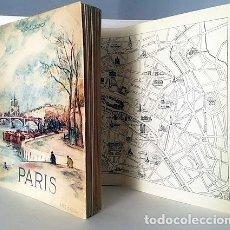 Libros de segunda mano: PARIS. (CUBIERTA ACUARELA DE CH BERTHOLD-MAHN) PLANO PLEGADO. 202 HELIOGRABADOS.. Lote 125975580