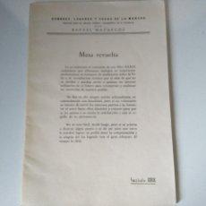 Libros de segunda mano: HOMBRES, LUGARES Y COSAS DE LA MANCHA FASCÍCULO 39 (XXXIX) - RAFAEL MAZUECOS - 1975. Lote 105625383
