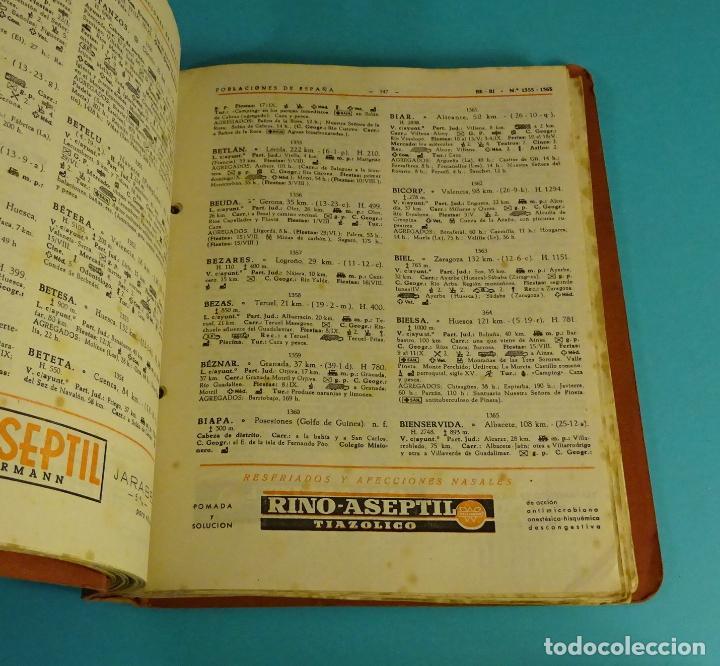 Libros de segunda mano: POBLACIONES DE ESPAÑA TOMO 1. PUBLICIDAD FARMACEÚTICA WASSERMANN. DE ABABUJ A GORDEJUELA. - Foto 3 - 107260971