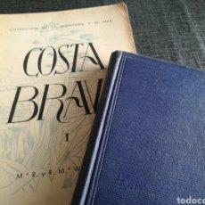 Libros de segunda mano: COSTA BRAVA (M. R. Y R. M. WENNBERG) Y COSTA BRAVA, GUÍA GENERAL Y VERÍDICA (JOSEP PLA) - 1A EDICIÓN. Lote 107907059