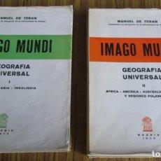 Libros de segunda mano: 2 TOMOS - IMAGO MUNDI GEOGRAFÍA UNIVERSAL 1 EUROPA – ASIA – INSULINDIA 2- AFRICA – AMÉRICA – AUSTRAL. Lote 109996775