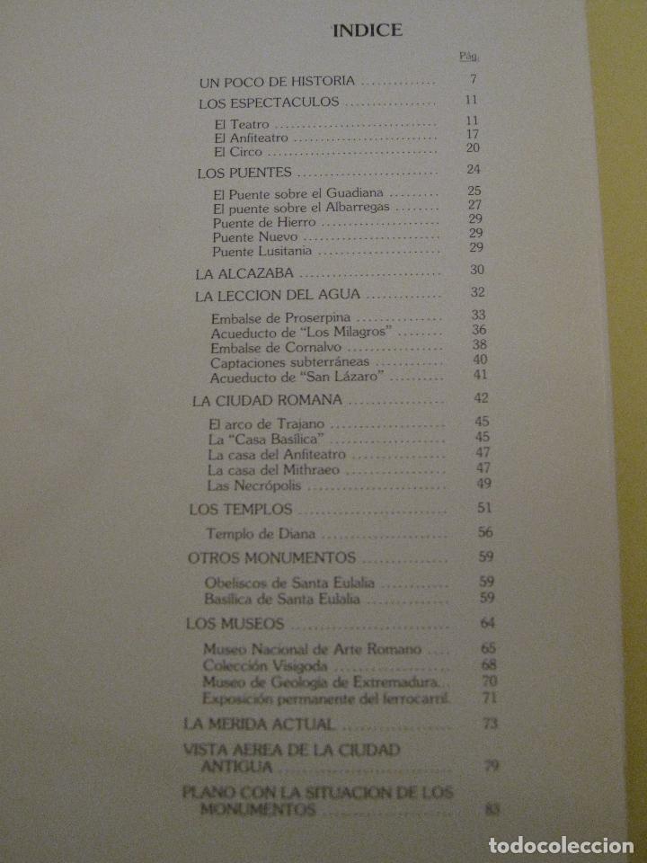 Libros de segunda mano: MERIDA. SUS MONUMENTOS. GUIA BREVE. - Foto 2 - 112426731