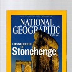 Libros de segunda mano: NATIONAL GEOGRAPHIC - SEPTIEMBRE 2008 - STONEHENGE. Lote 113258251