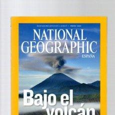 Libros de segunda mano: NATIONAL GEOGRAPHIC - ENERO 2008 - BAJO EL VOLCAN. Lote 113258455