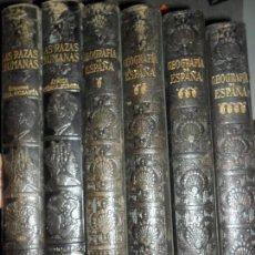 Libros de segunda mano: GEOGRAFÍA DE ESPAÑA, 4 TOMOS, Y LAS RAZAS HUMANAS, 2 TOMOS, ED. INSTITUTO GALLACH. Lote 113670363