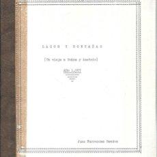 Libros de segunda mano: LAGOS Y MONTAÑAS. UN VIAJE A SUIZA Y AUSTRIA. JUAN FERNANDEZ MENDEZ. 1967. . Lote 113791567