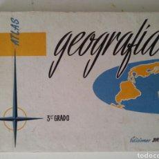 Libros de segunda mano: ATLAS GEOGRAFIA 3°GRADO 1959. Lote 115170360