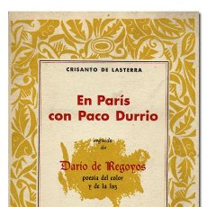 Libros de segunda mano - Crisanto de Lasterra.– En París con Paco Durrio. Darío de Regoyos poesía del color y de la luz. 1966 - 118334895