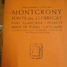 Libros de segunda mano: MONTGRONY GUIA CARTOGRAFICA - PORTAL DEL COL·LECCIONISTA *****. Lote 118347963