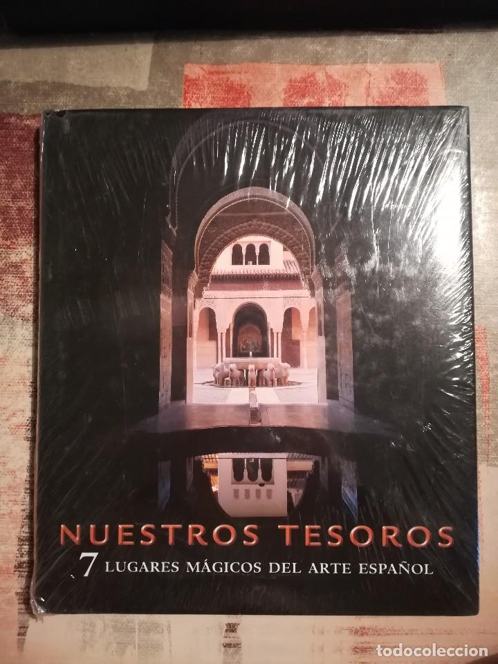 NUESTROS TESOROS. 7 LUGARES MÁGICOS DEL ARTE ESPAÑOL - PRECINTADO DE EDITORIAL (Libros de Segunda Mano - Geografía y Viajes)
