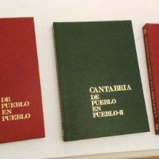 Libros de segunda mano: CANTABRIA DE PUEBLO EN PUEBLO.MANN SIERRA.3 TOMOS.I Y II Y III - 1980.1981. Lote 118950319