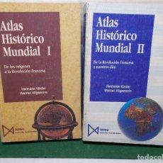 Libros de segunda mano: ATLAS HISTORICO ISTMO EN DOS TOMOS. EL CLASICO. MUY BUEN ESTADO. Lote 125823647