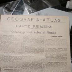 Libros de segunda mano: GEOGRAFIA Y ATLAS CUARTO GRADO GRADO FTD 1923. Lote 126215163