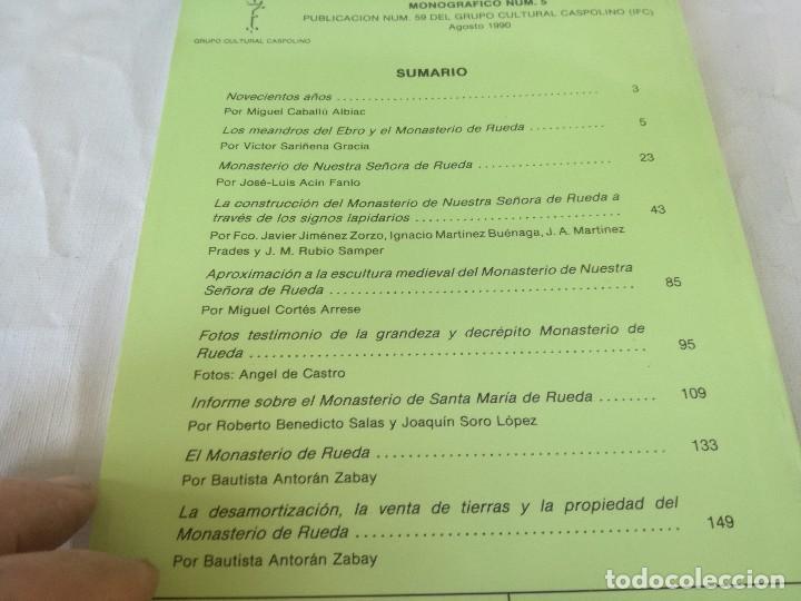 Libros de segunda mano: MONASTERIO NTRA SRA DE RUEDA-OCHO ARTICULOS PUBLICADOS CUADERNOS ESTUDIOS CASPOLINOS-ARAGON-ZARAGOZA - Foto 3 - 128159675