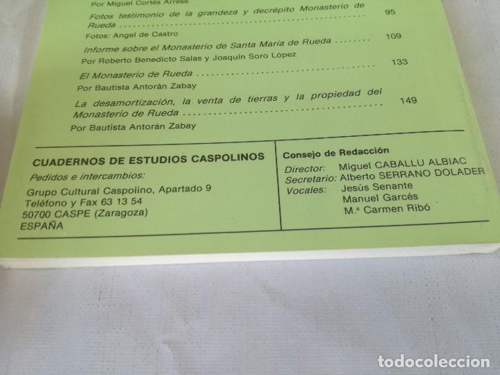 Libros de segunda mano: MONASTERIO NTRA SRA DE RUEDA-OCHO ARTICULOS PUBLICADOS CUADERNOS ESTUDIOS CASPOLINOS-ARAGON-ZARAGOZA - Foto 4 - 128159675