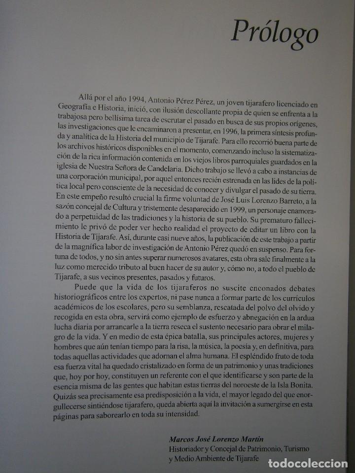 Libros de segunda mano: LA HISTORIA DE TIJARAFE Antonio Perez Perez 1 edicion 2005 - Foto 12 - 128877483