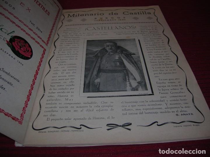 Libros de segunda mano: Revista. Milenario de Castilla.Burgos Septiembre 1943 - Foto 3 - 129449751
