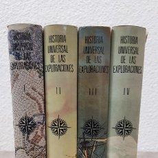 Libros de segunda mano: HISTORIA UNIVERSAL DE LAS EXPLORACIONES ( TOMOS I - II - III - IV ) - L. H. PARIAS - ESPASA - CALPE. Lote 108738915