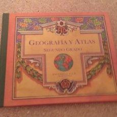 Libros de segunda mano: GEOGRAFIA Y ATLAS SEGUNDO GRADO. Lote 132116082